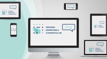 Logo CKC UW na różnych ekranach