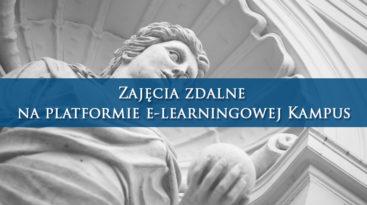 Tekst: Zajęcia zdalne na platformie e-learningowej Kampus